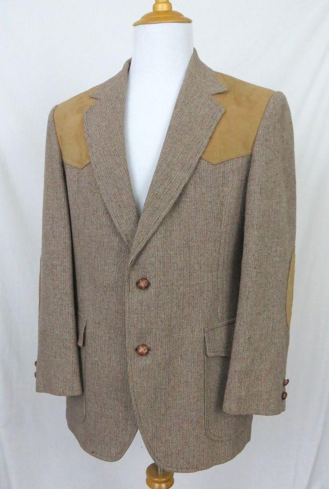 Pendleton Sport Coat 42R Vintage High Grade Western Suede Virgin ...