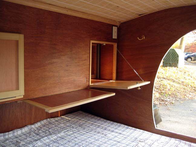 Teardrop trailer interior design
