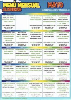 Menu mensual de mayo Comedores escolares - Espana | menu ...