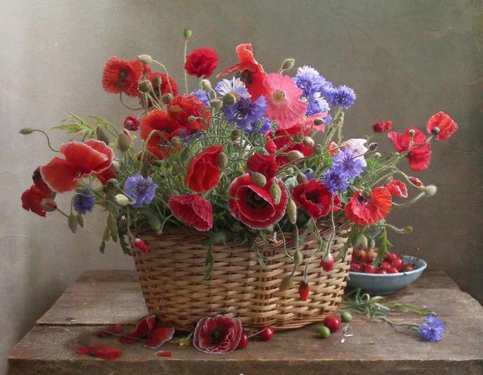 Натюрморты Цветы в корзине. Обсуждение на LiveInternet ...