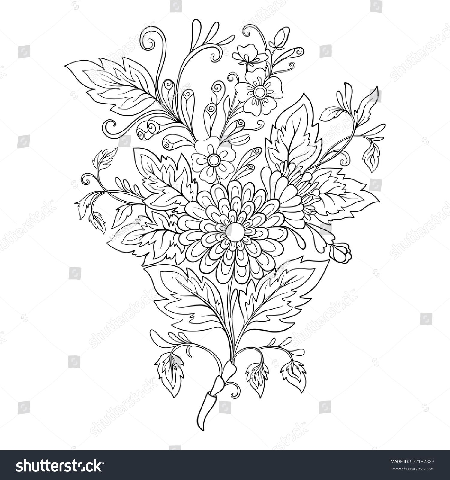 Outline vintage flowers bouquet or pattern embroidery patterns outline vintage flowers bouquet or pattern izmirmasajfo