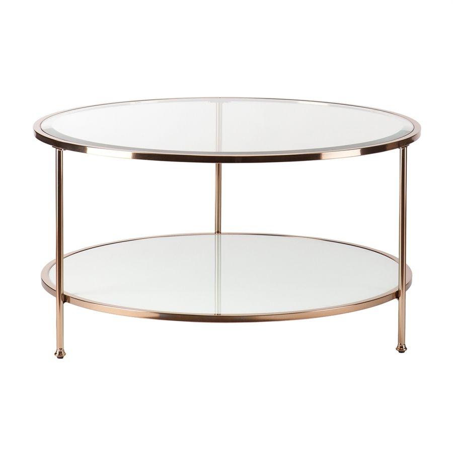 Boston Loft Furnishings Riku Clear Glass Round Coffee Table Lowes Com Round Gold Coffee Table Gold Coffee Table Round Coffee Table [ 900 x 900 Pixel ]