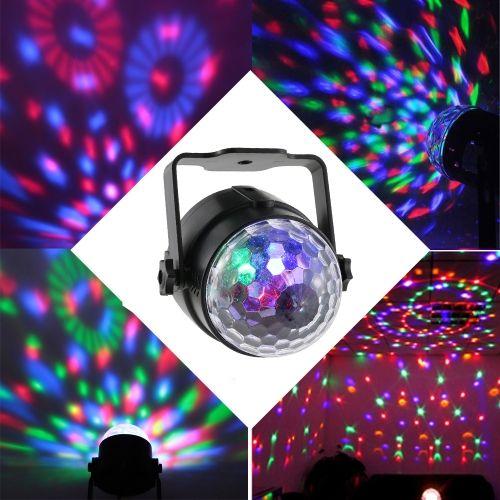Comprar el mejor uk Tomshine sonido automático activado 3W RGB LED mini cristal mágico giratorio Ball Efecto LED etapa luces para KTV Navidad fiesta de bodas Show Club Pub Disco DJ en Tomtop.com. Comprar Luces del escenario barato y de calidad en línea, varios descuentos están esperando para usted.