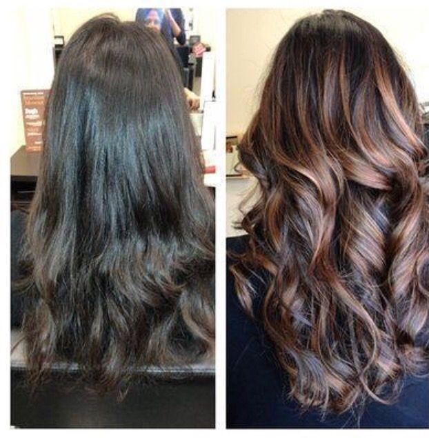 Castanho Iluminado Cabelo Escuro Com Luzes Hair Hair Luzes Cabelo