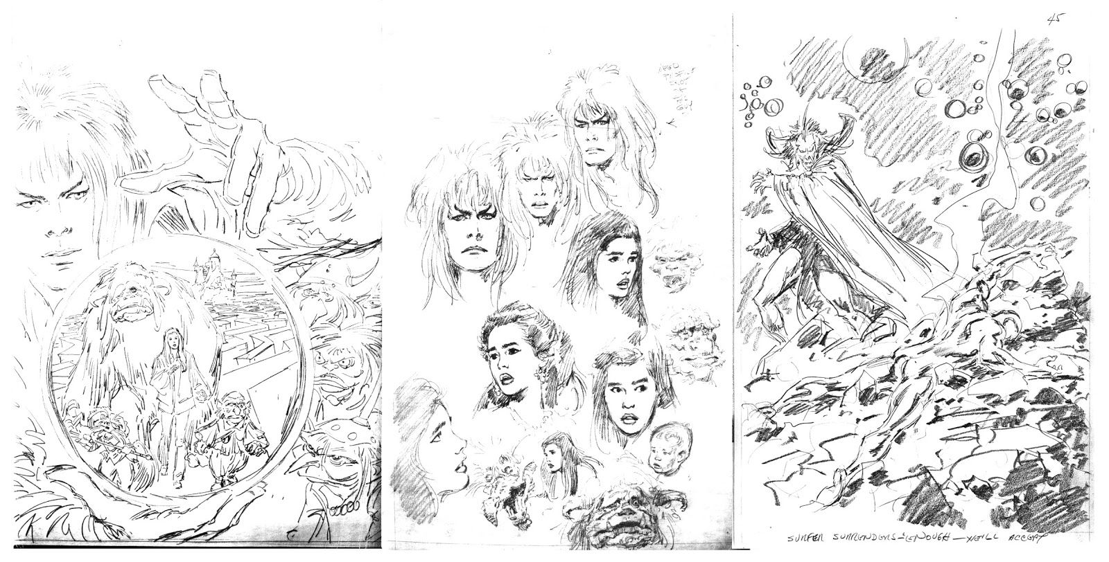 Labyrinth Movie Drawings Labyrinth Movie Characters