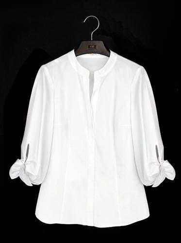 268af4c02 La camisa blanca según Carolina Herrera Camisas Mujer Blanca
