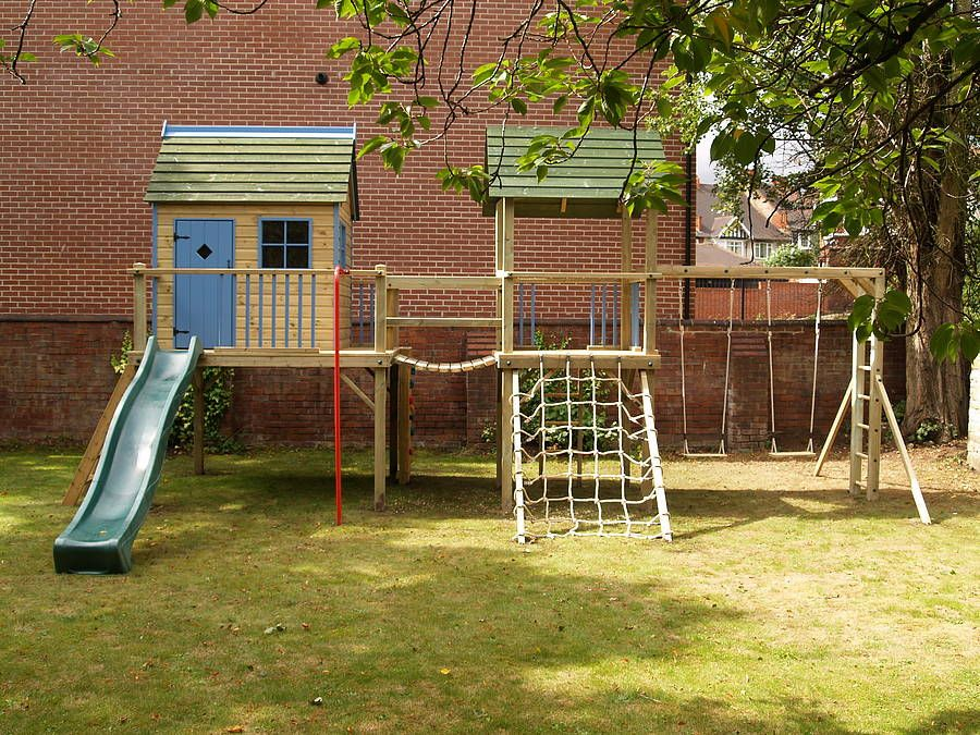 Combo Playhouse Climbing Frame In Marina Blue In 2019
