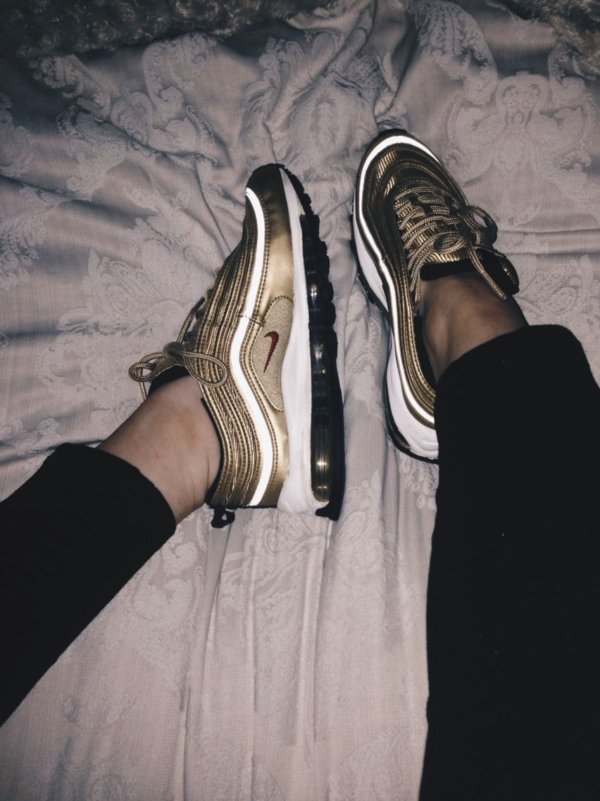 a3b50a687c Air Max 97 Gold // Follow for more dope content Pinterest: @Darkskyn ...