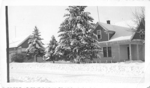 Photograph Snapshot Vintage Black and White Winter House Yard Front - physical assessment form