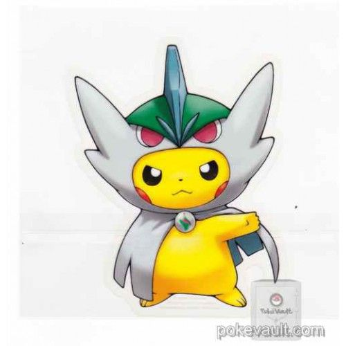Pokemon center 2016 poncho pikachu campaign 2 mega gallade large sticker