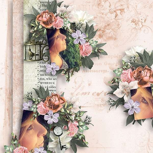 Romantic Emotion by Butterfly Design for Digital Scrapbooking Studio