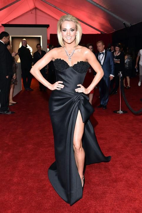 Click to see our very favorite dresses and looks from the 2016 Grammys, including Carrie Underwood in strapless black Nicholas Jebran
