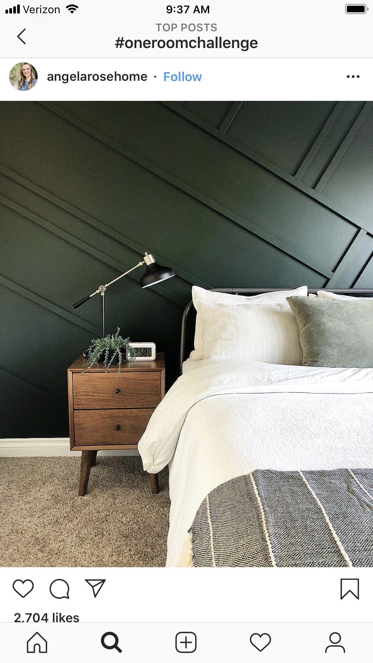Idea by Chelsea VanWormer on Home 2018 Green bedroom