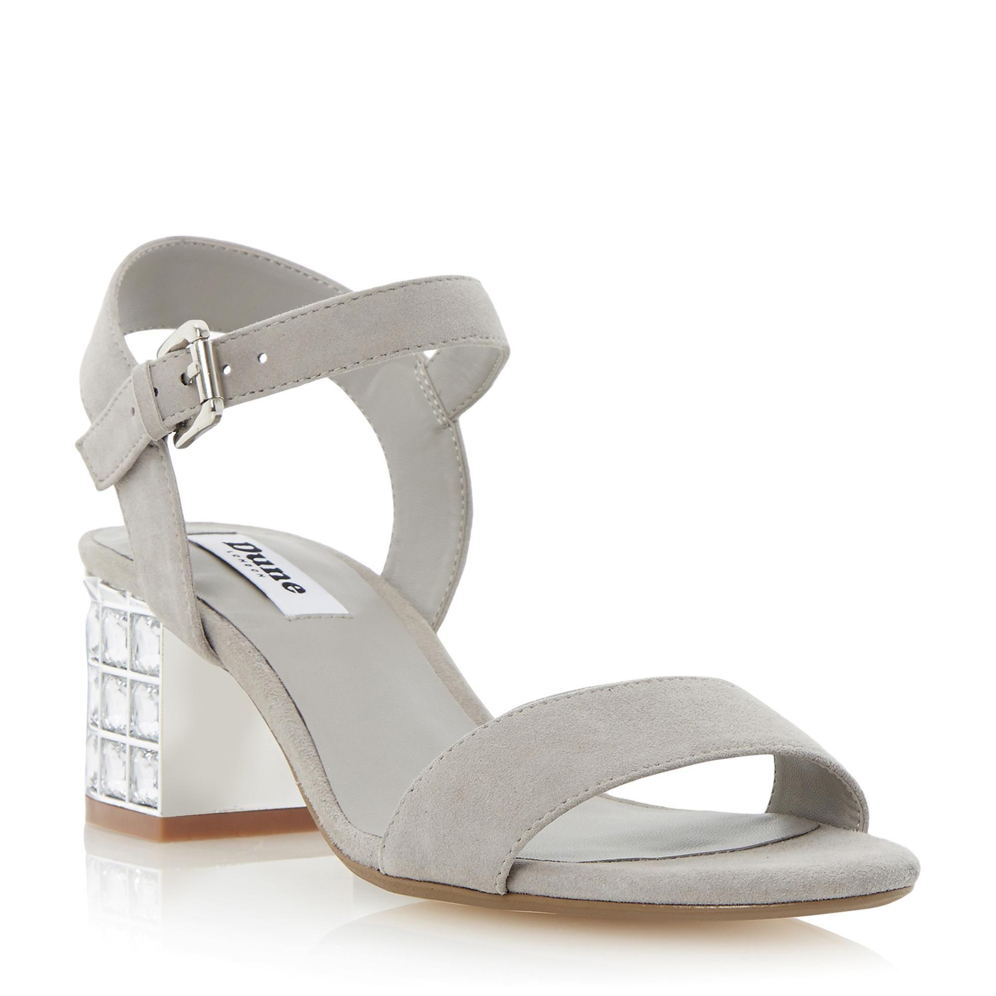 846ca7e44fa6 DUNE LADIES HARAH - Jewelled Block Heel Sandal - grey