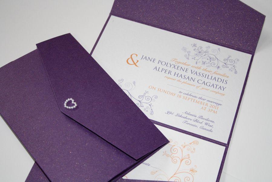 designer wedding invitations uk - Purple Wedding Invitations