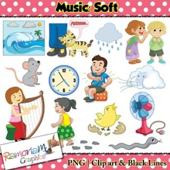 Music Concepts: Soft sounds Clip art | Music Teaching Unit ...