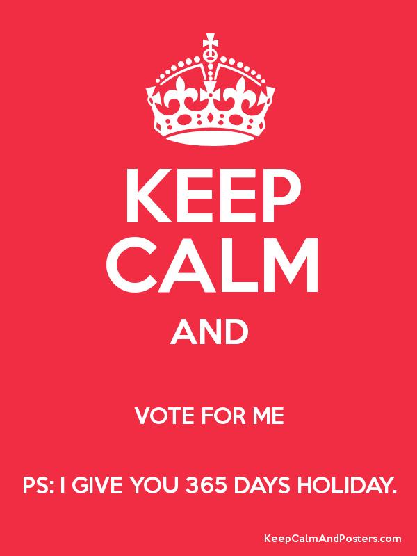 Vote for me persuasive essay