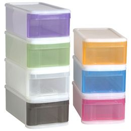 Small Tint Stacking Drawer They have a catch to stop from sliding in and out completely with ease. Slightly flexible plastic for kids. Choose any colors.  sc 1 st  Pinterest & Small Tint Stacking Drawer They have a catch to stop from sliding in ...