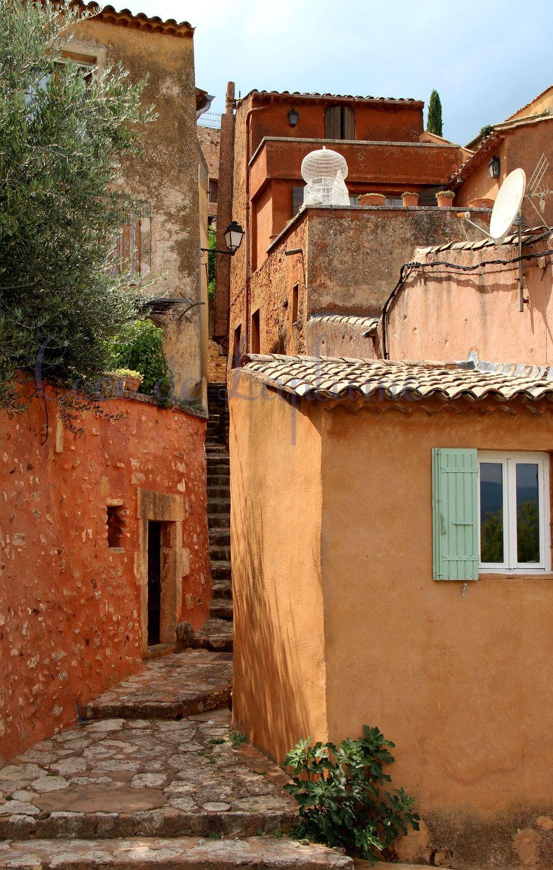 Village Roussillon Vaucluse Coco De Laplume Roussillon Vaucluse Paysage France Vaucluse