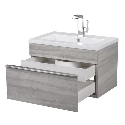 520 Cutler Kitchen Bath Trough 24 Wall Mounted Single Bathroom Vanity Set Review Single Bathroom Vanity Modern Bathroom Vanity Floating Bathroom Vanities