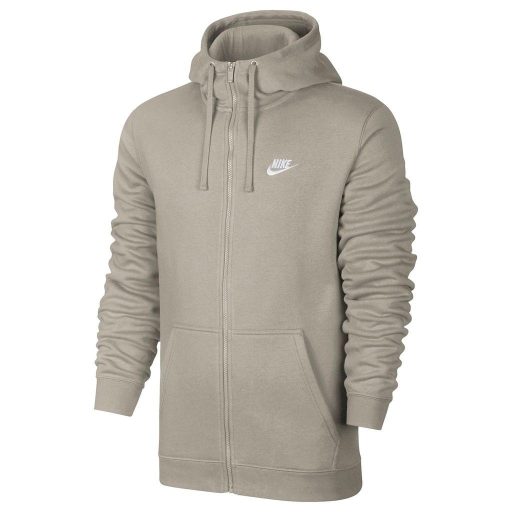 Men's Nike Club Fleece Full Zip Hoodie, Size: XXL, RedCoppr