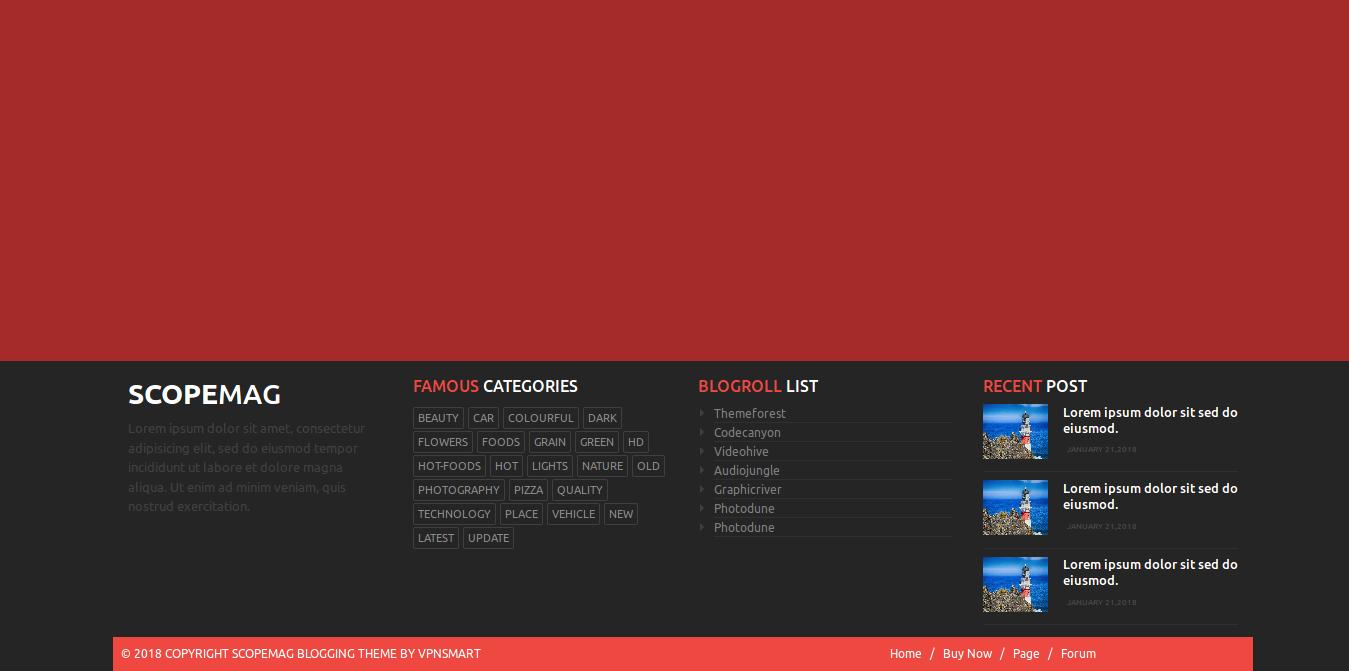 Bootstrap 4 Footer Design Demo Pinterest