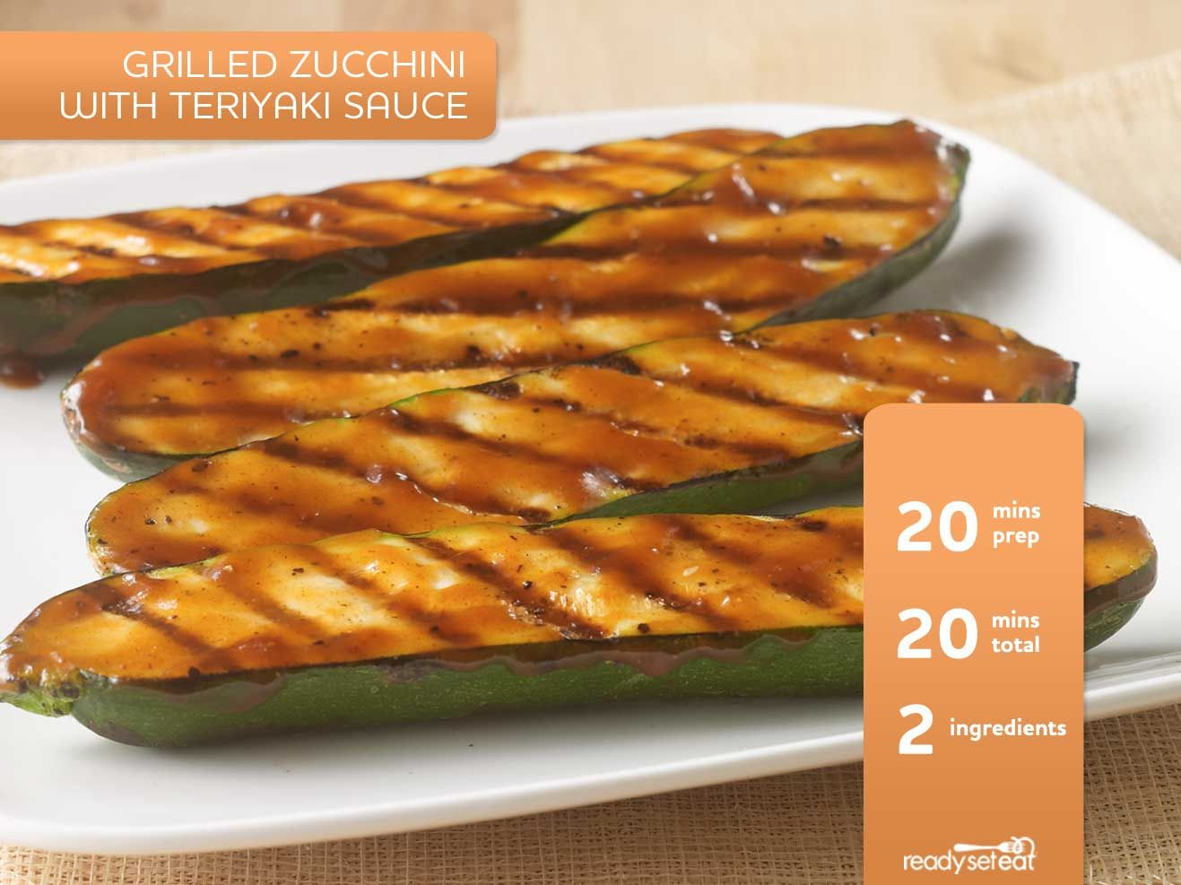 Grilled Zucchini with Teriyaki Sauce And other zucchini dishes.
