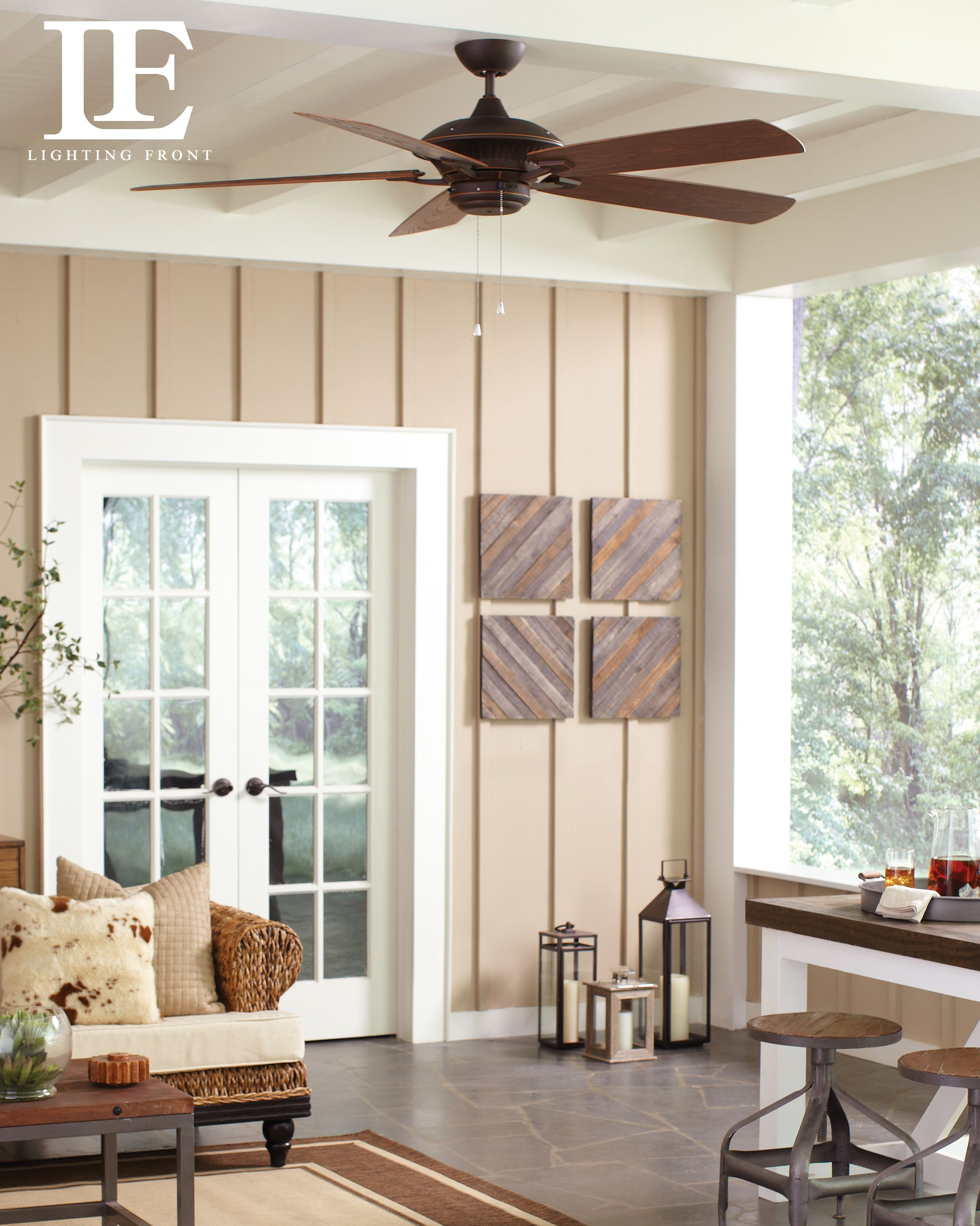 Monte Carlo Outdoor Ceiling Fan adds a stylish look to your tropical