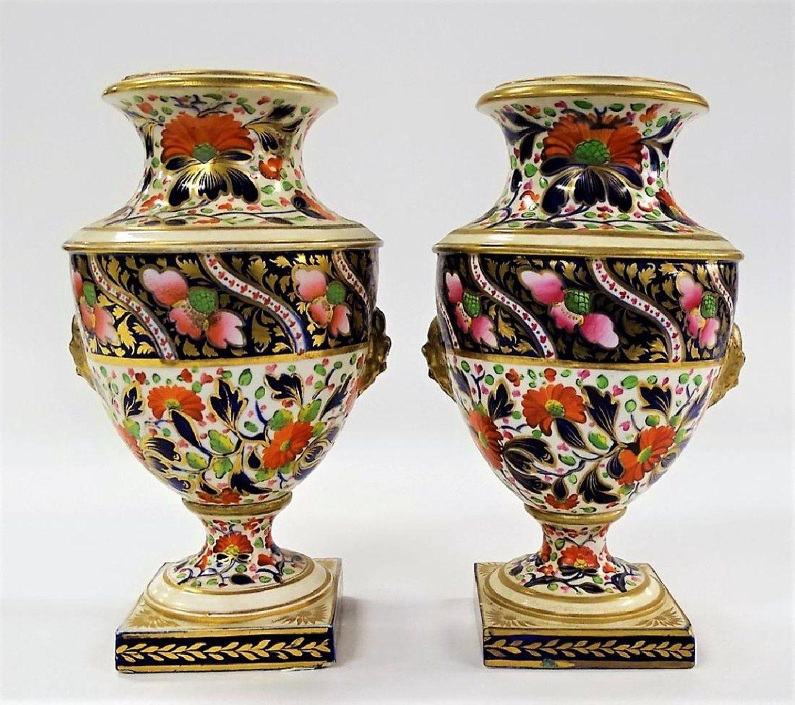 Pr early 19th c royal crown derby porcelain vases portelan pr early 19th c royal crown derby porcelain vases reviewsmspy