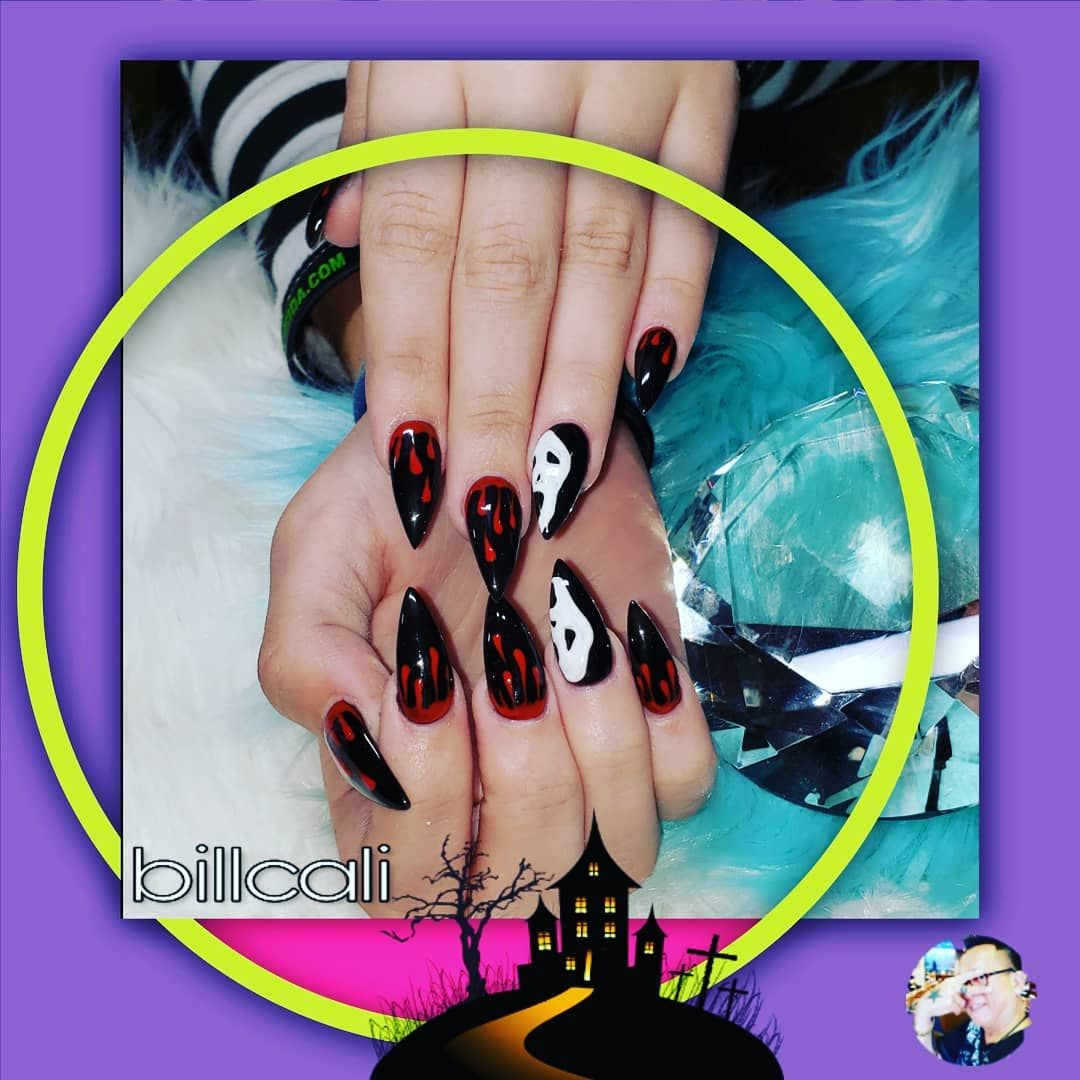 Halloween Nail Art Dipping Colorful By Billcali Nail
