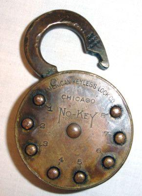 Antique No Key Lock With Combination Padlock Http Media
