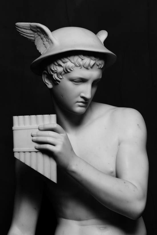 Bertel Thorvaldsen (1770-1844) - Mercure, marbre, 1818, Thorvaldsen Museum, Copenhagen, Denmark.