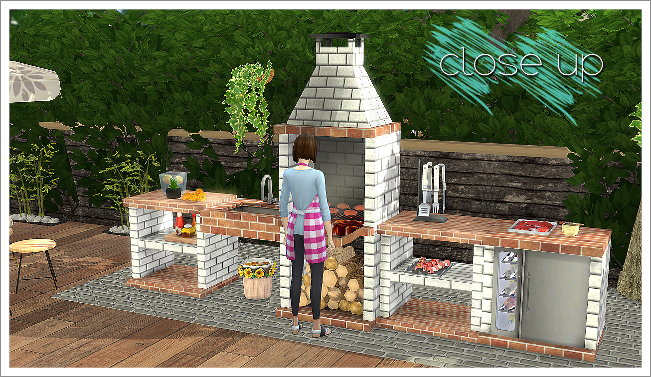 2t4 Mensure Bbq Outdoor Kitchen Set Sims 4 Designs Sims 4 Kitchen Sims 4 Outdoor Bbq