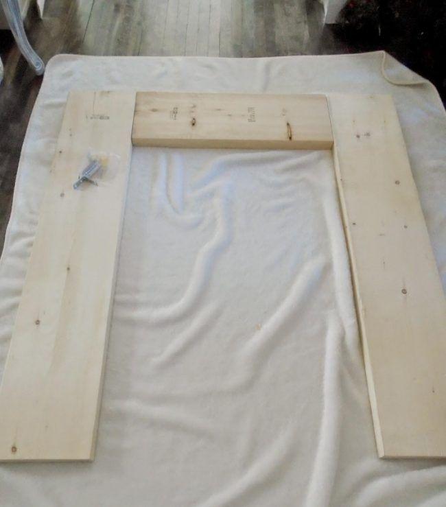 Kaminumrandung Selber Bauen Dekokamin Anleitung Holz Bretter Zusammen Konstruktion Kaminumrandung Dekokamin Kamin