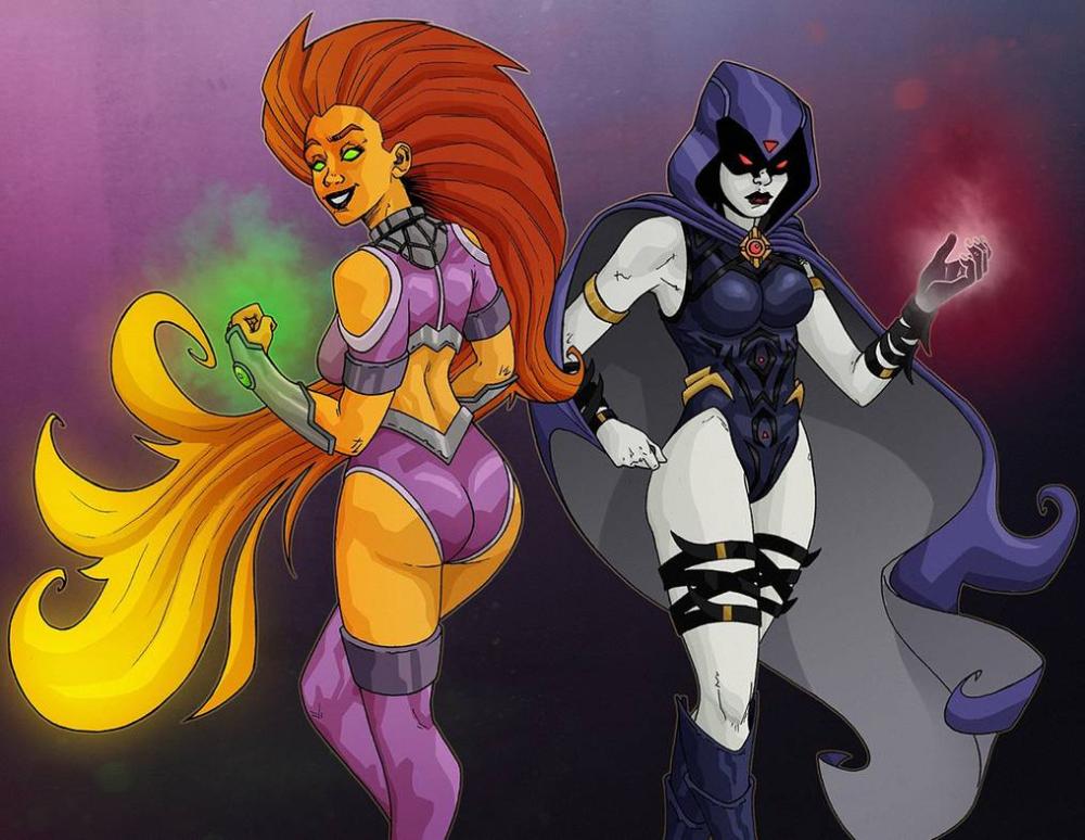 Raven And Starfire by KiwiiTia on DeviantArt