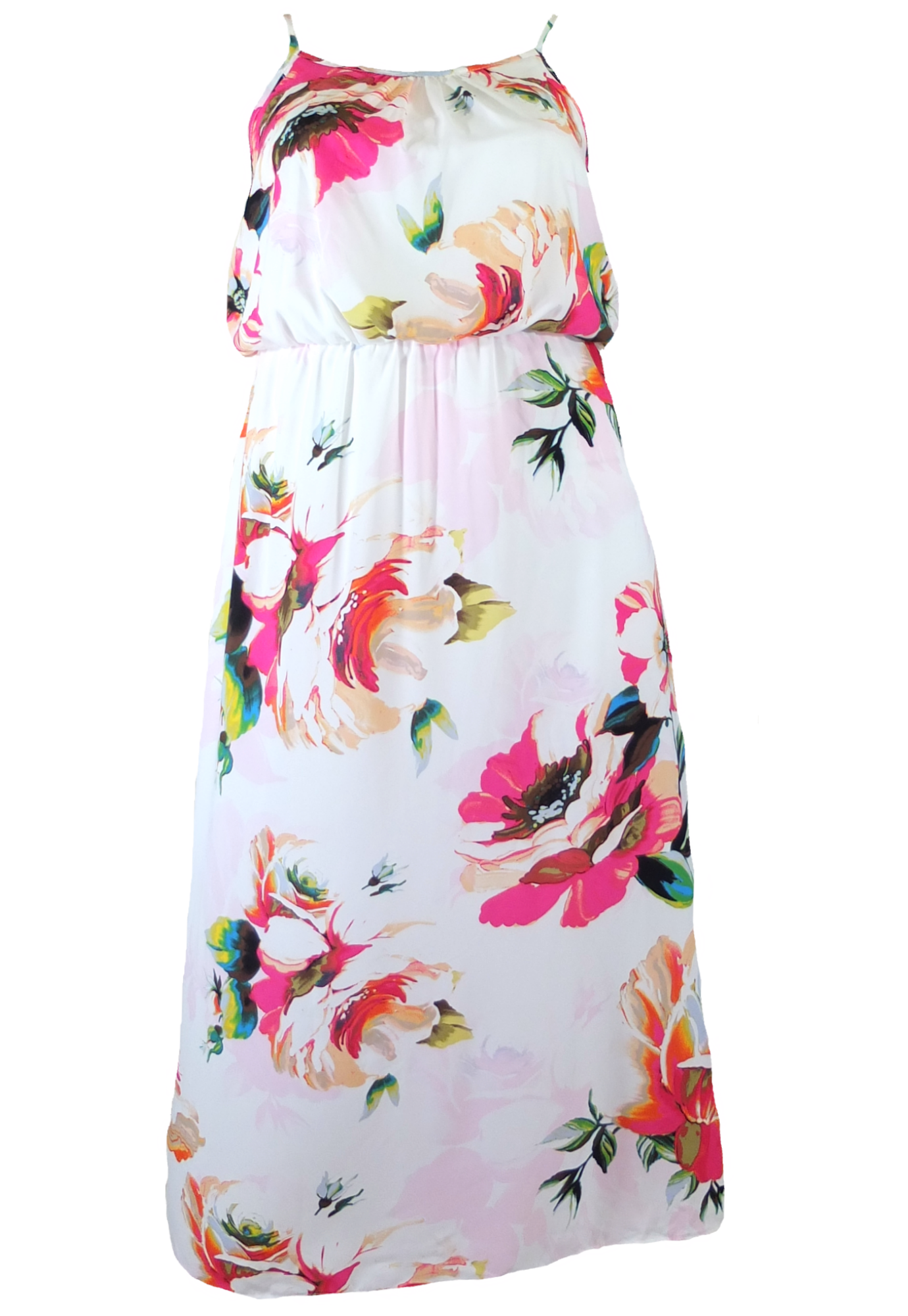 Plus size sleeveless floral maxi dress fashioncasual pinterest