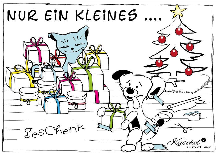 kuschel und er - weihnachtsgeschenk | postkarten lustig, liebe, Einladung