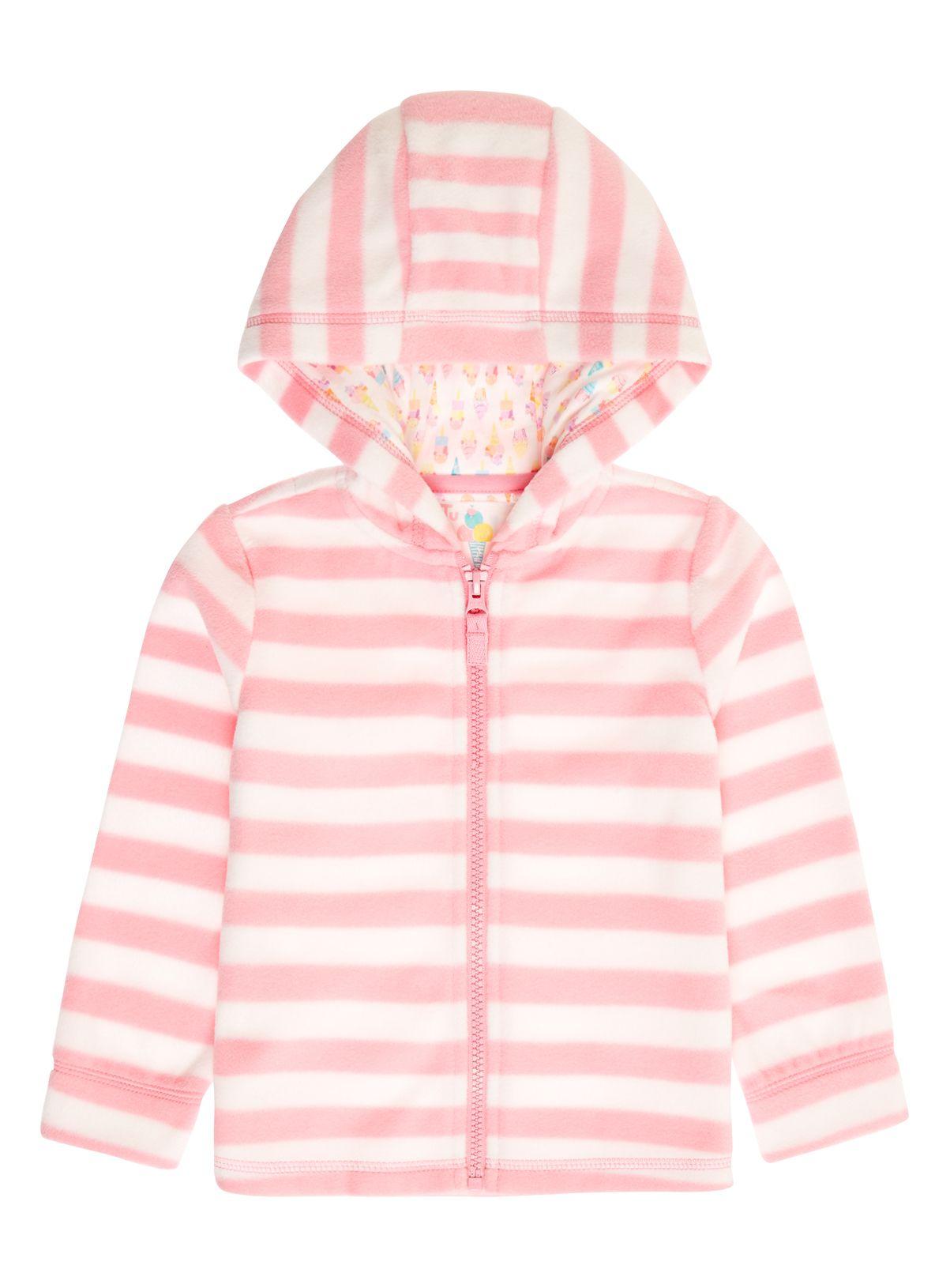 bfff755783c8 9 months - 5 years - Tu at Sainsburys Girls Pink Stripe Fleece ...