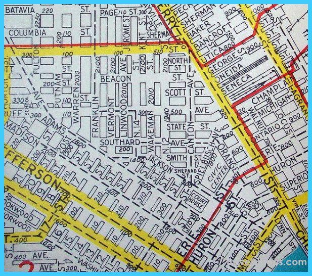 Map of Toledo Ohio httptravelsmapscommaptoledoohiohtml
