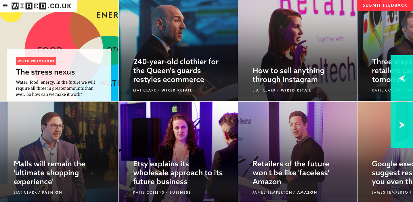 Wired UK Homepage: articlediscovery experience
