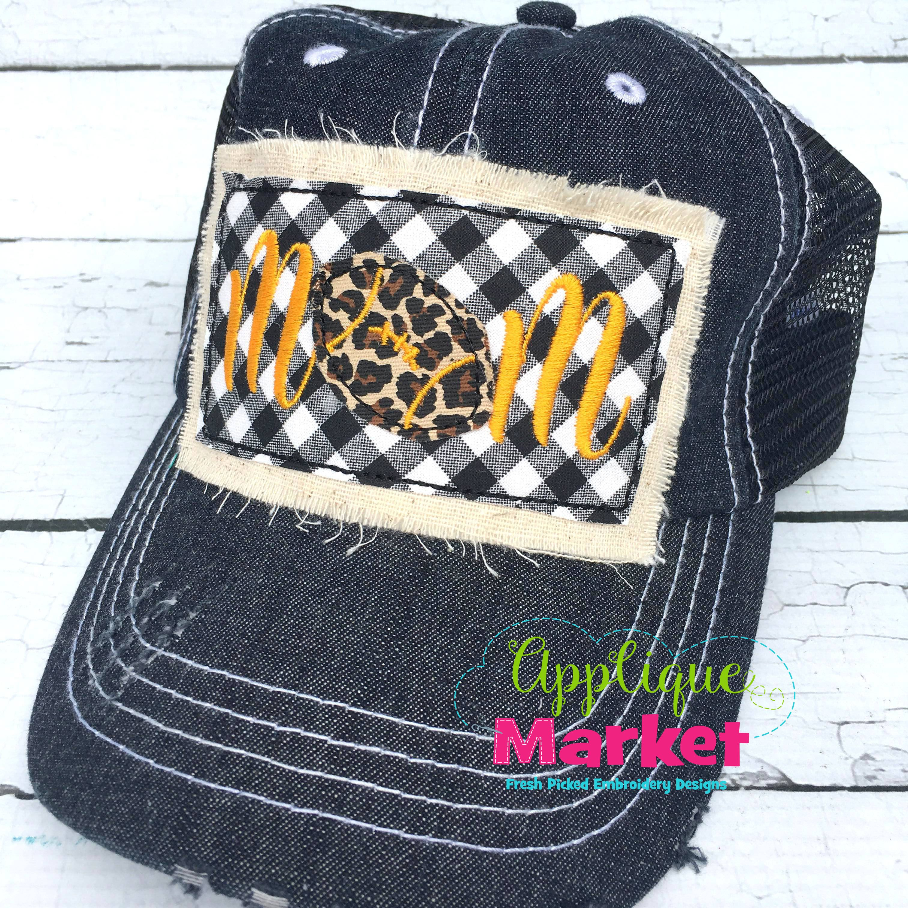 Football Mom Hat Patch Mom Hats Hat Patches Football Mom