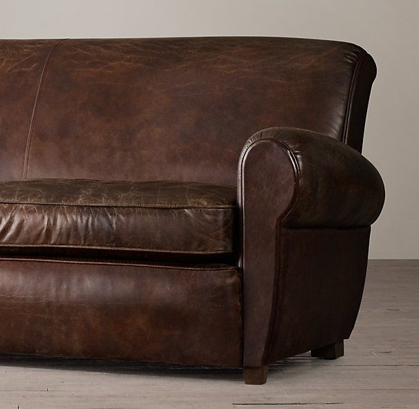 Leather Sofa Repair Rotherham: 8' 1920s Parisian Leather Sofa In 2019