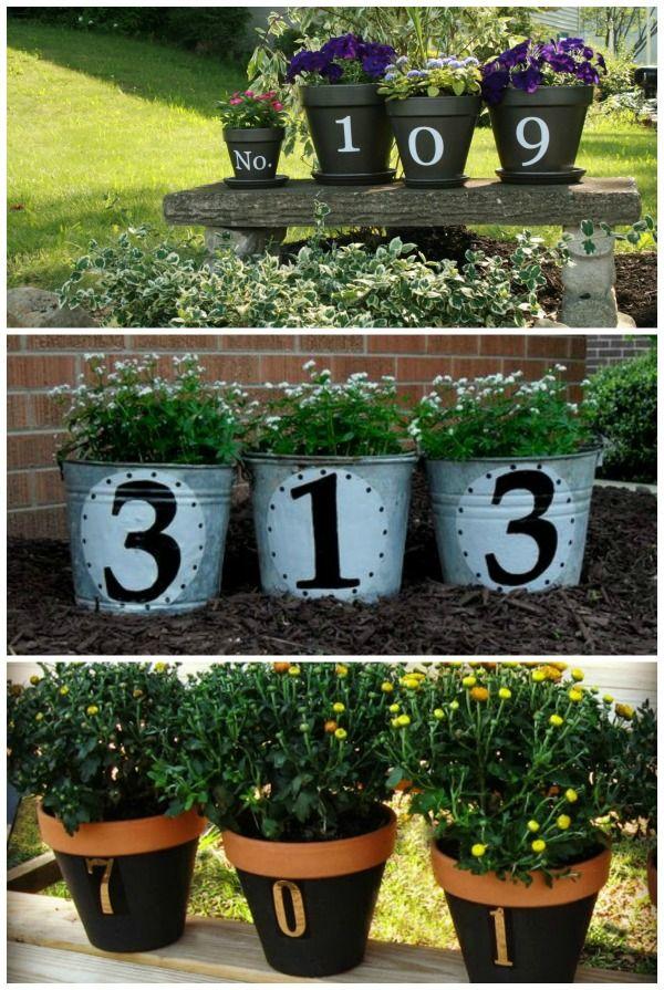 Flower Pot Craft   Home Address Flower Pots  we love these 3 creative ideas. The BEST Garden Ideas and DIY Yard Projects   Gardens  Sweet home