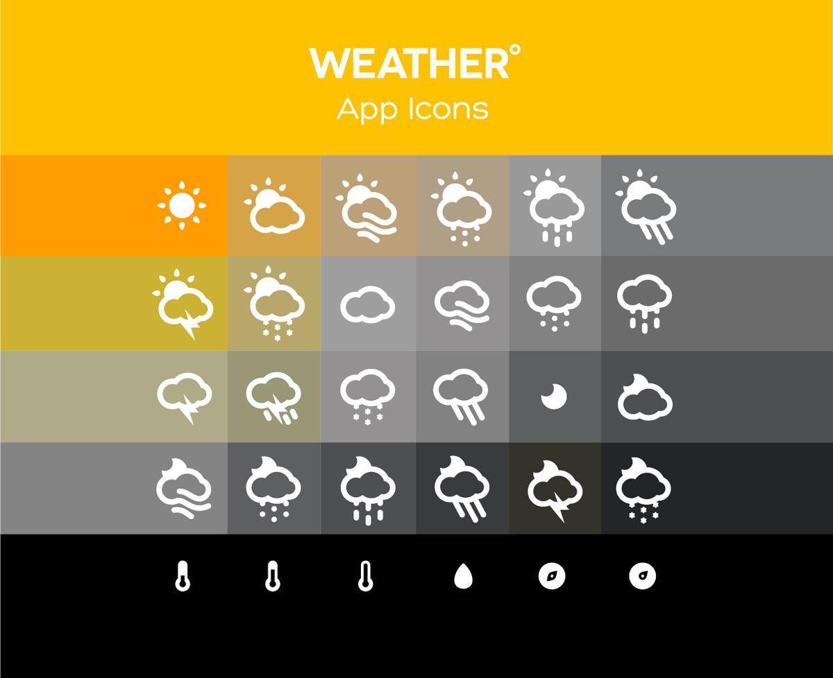 Weather app icons psdai designer first uiux pinterest weather app icons psdai designer first buycottarizona Gallery