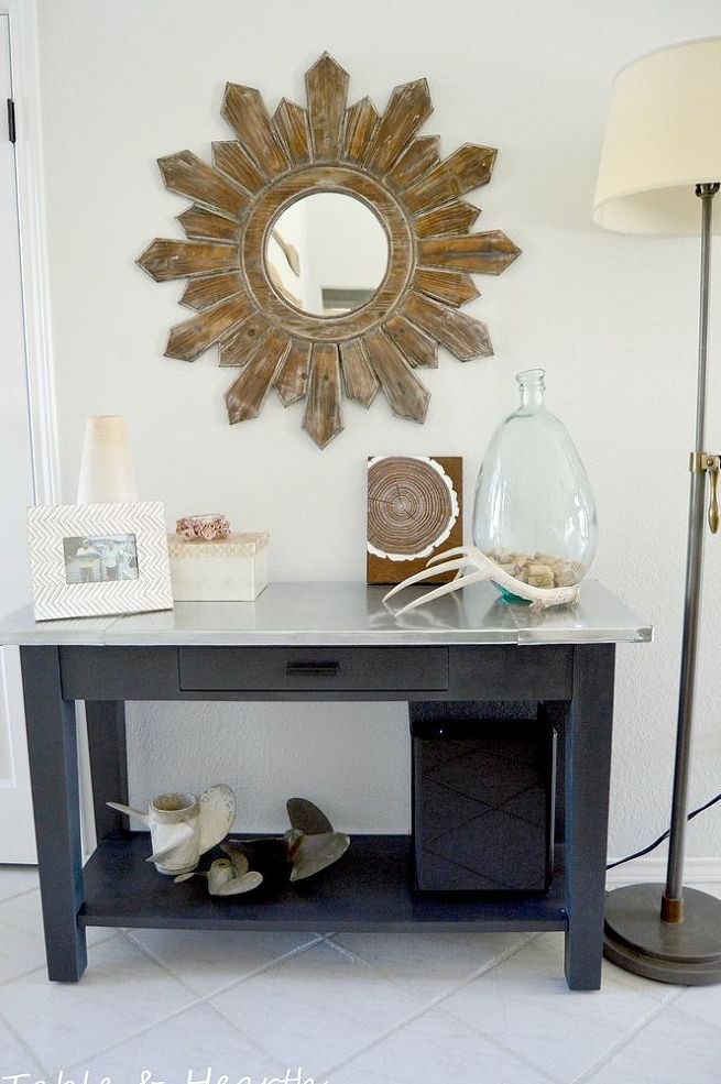 Gray Youth Group Rooms: Add A Metal Top To An Old Table