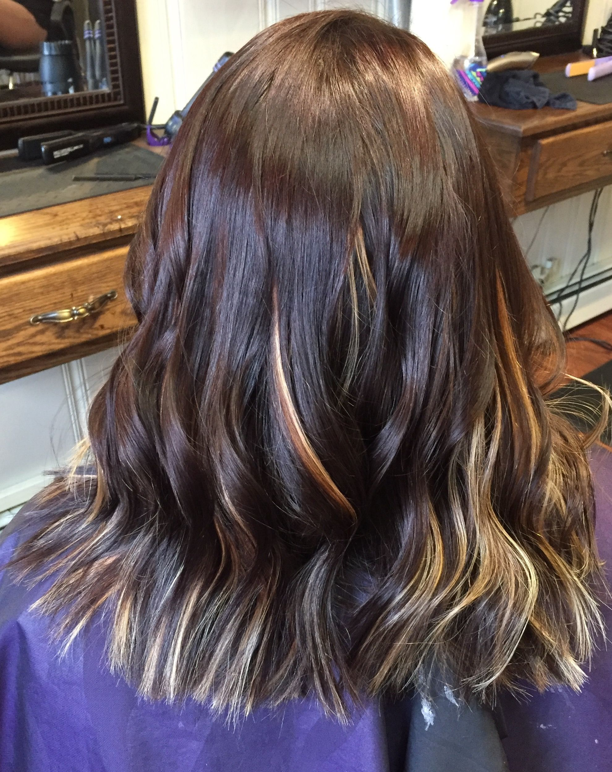 Chunky peekaboo highlights for dark hair images hair extension dark brown hair color with peekaboo light blonde highlights hair dark brown hair color with peekaboo pmusecretfo Gallery