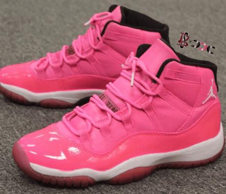 Pink jordans, Pink jordan 11, Me too shoes