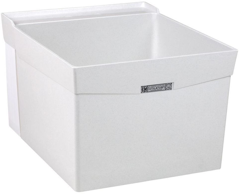 Mount Sideways Laundry Utility Tub Single Basin Sink 20 X 24