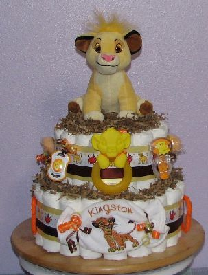 Lion King Baby Shower Theme Baby Love Diaper Cakeslionkingsimba