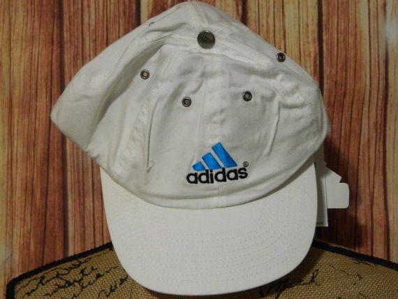 Vtg NWT Adidas Deadstock Baseball Cap Hat White by DecadesYoung #adidas #deadstock #retroadidas #vintageadidas
